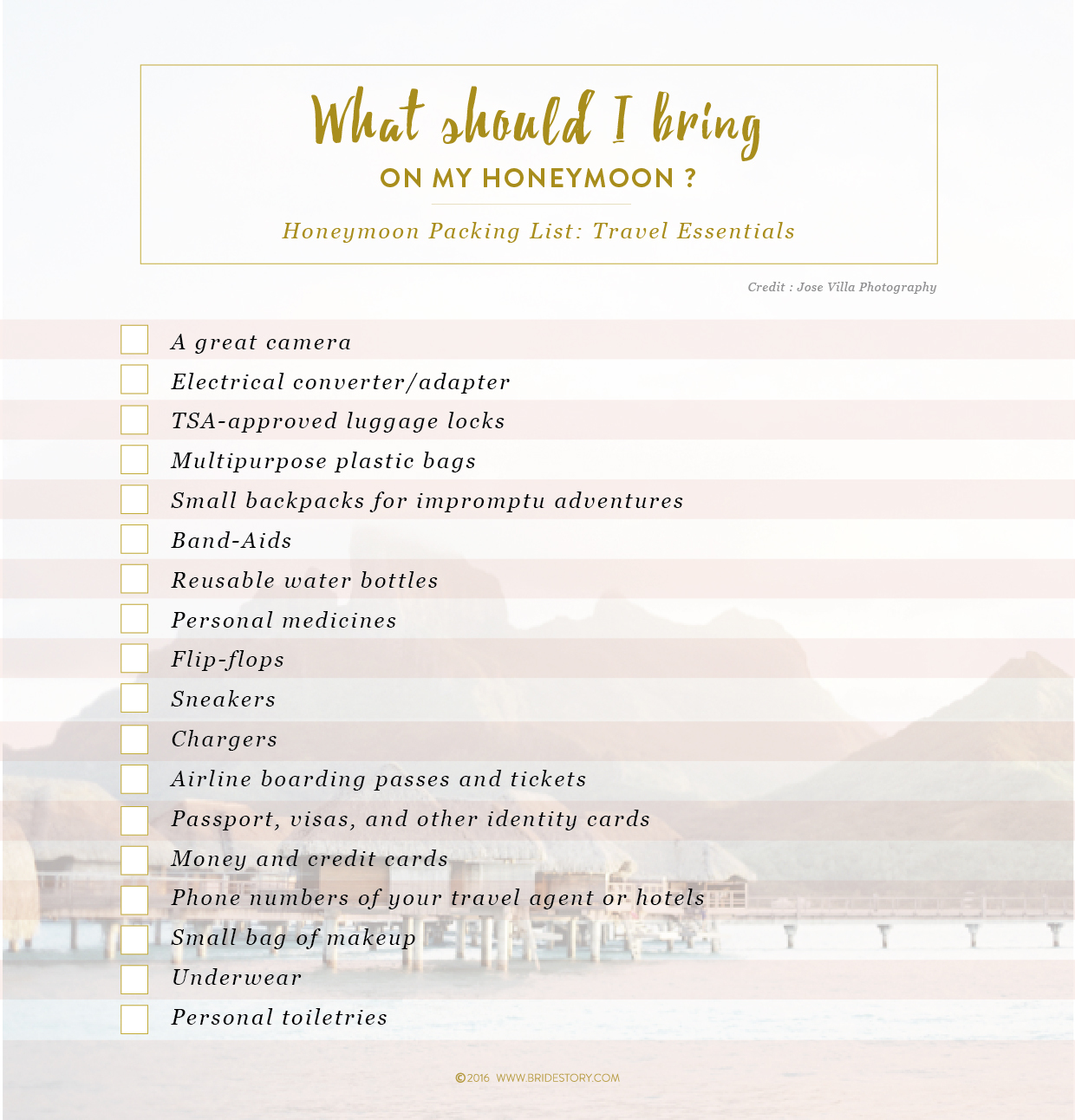 Honeymoon 101 Preparation And Packing Lists Bridestory Blog