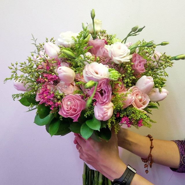 Fresh Flowers -all Import- Bridal Bouquet by Lily Floristry ...