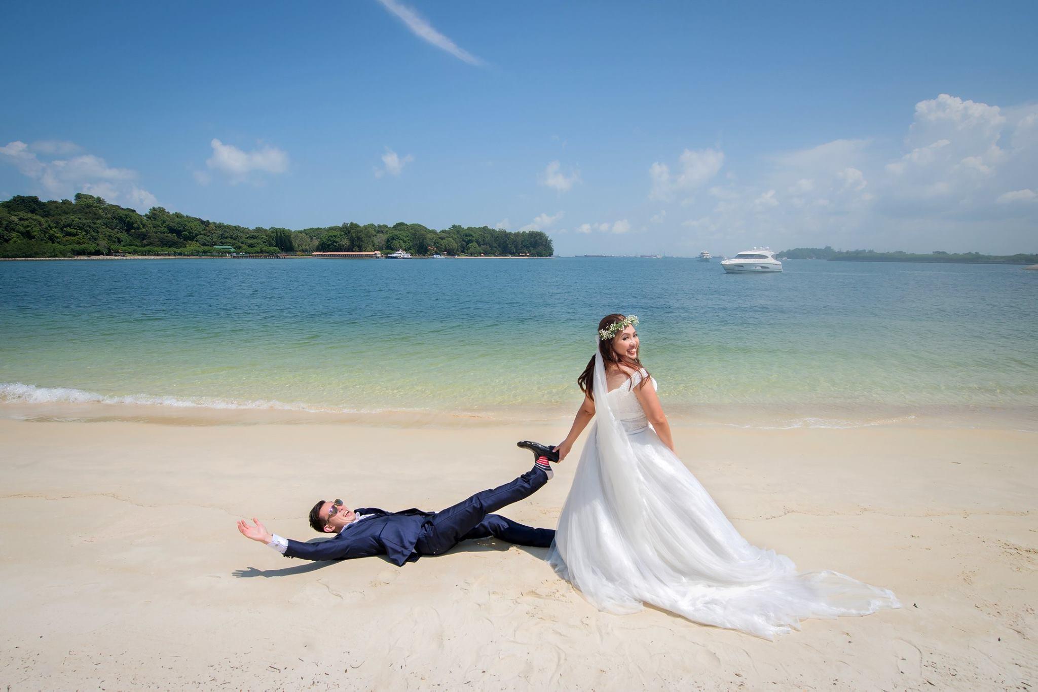 St John Island Lazarus Island Pre Wedding Shoot by GrizzyPix Photography | Bridestory.com