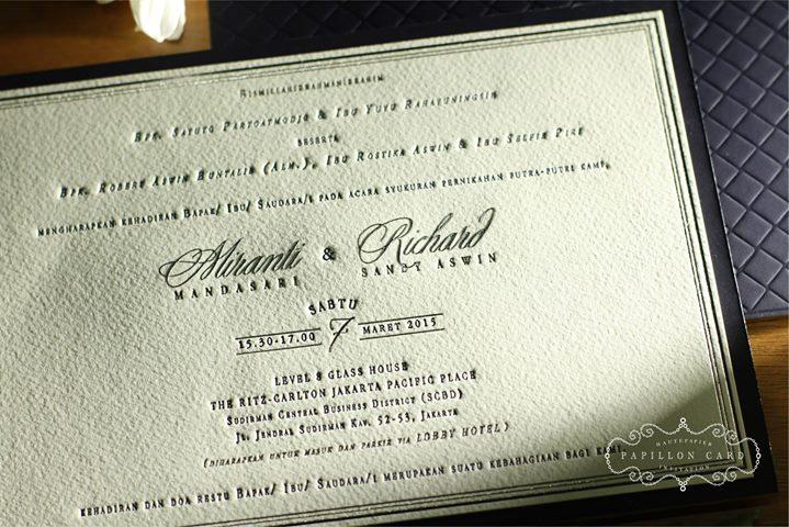 Papillon Card Wedding Invitations In Jakarta Bridestory Com