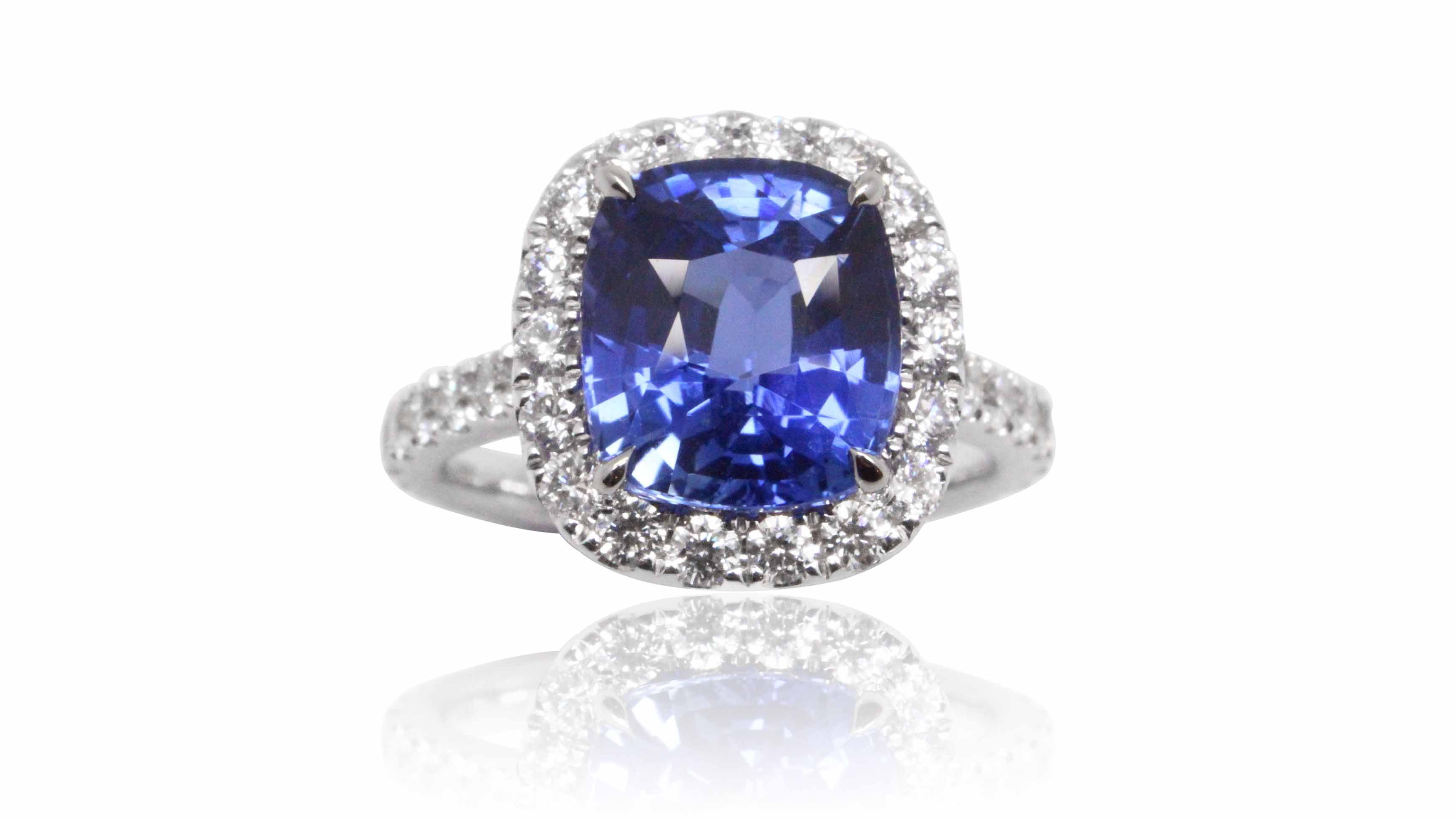 created gold sapphire ebay white ring blue miadora engagement itm rings in