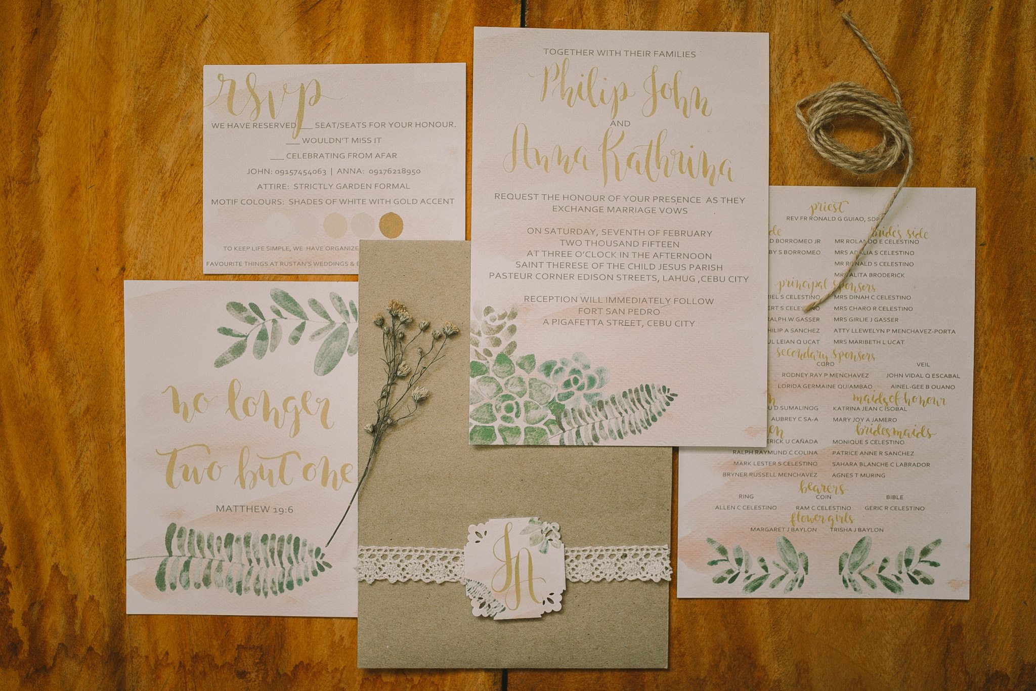 Watercolor And Calligraphy Wedding Invitations By First Of April |  Bridestory.com