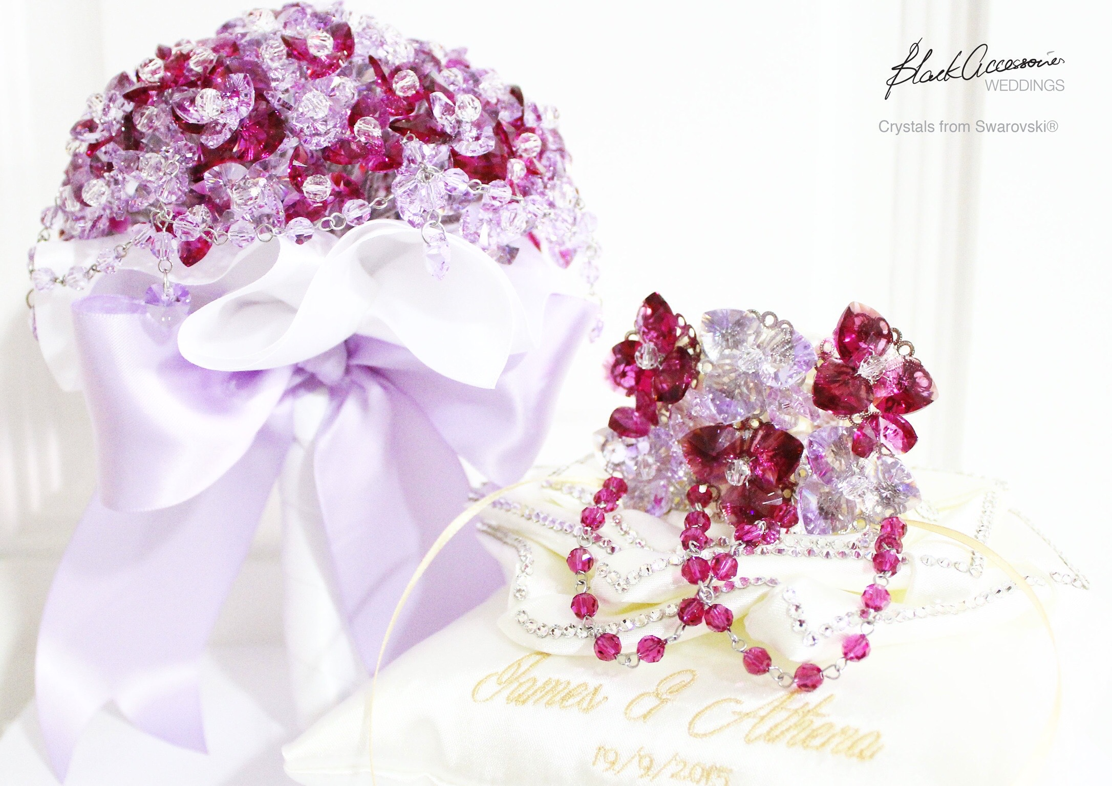 Crystals Themed Weddings by Blackaccessories, specialises in Crystal ...