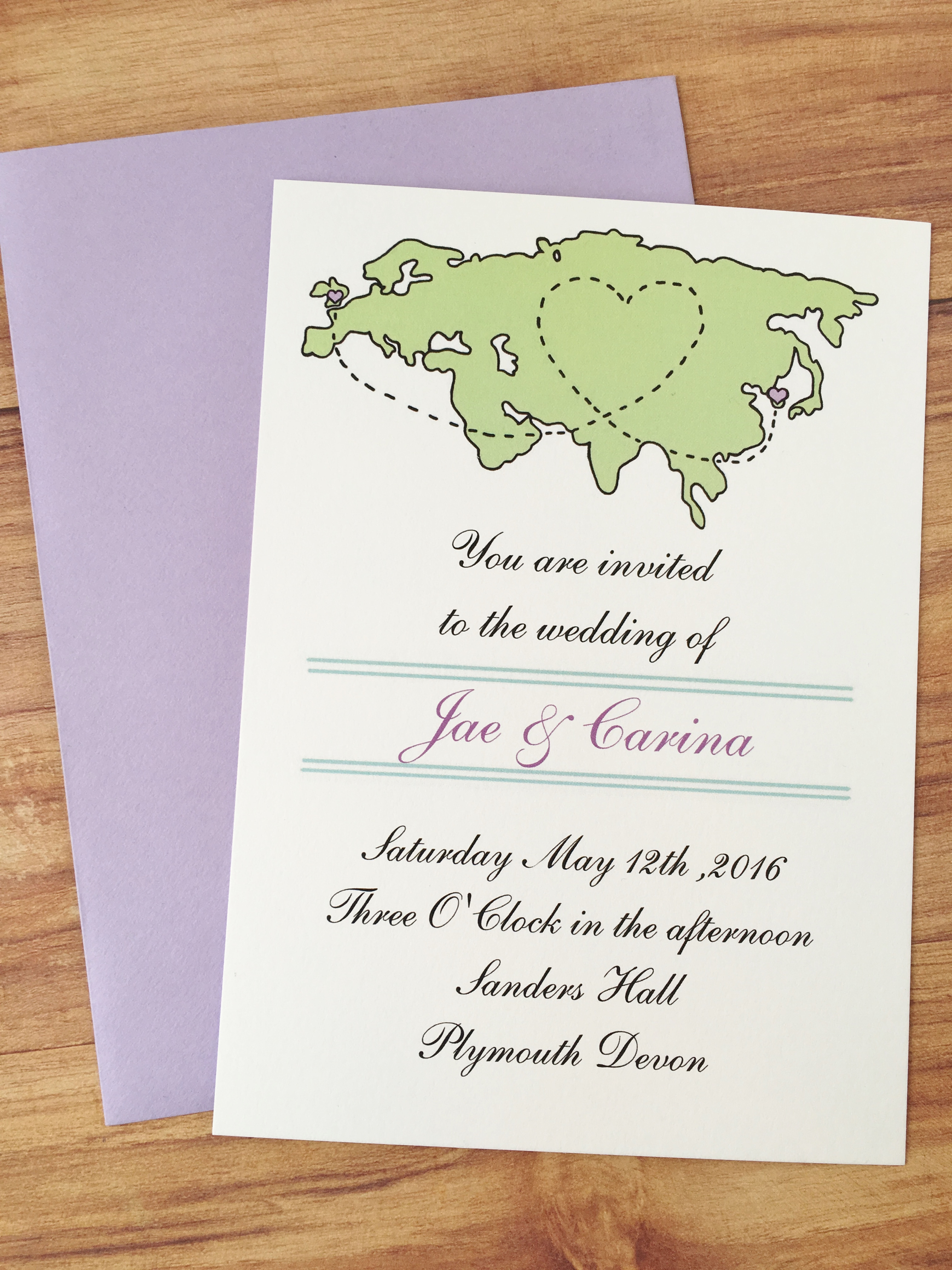 Long distance wedding invitations by Fancy Paperie | Bridestory.com