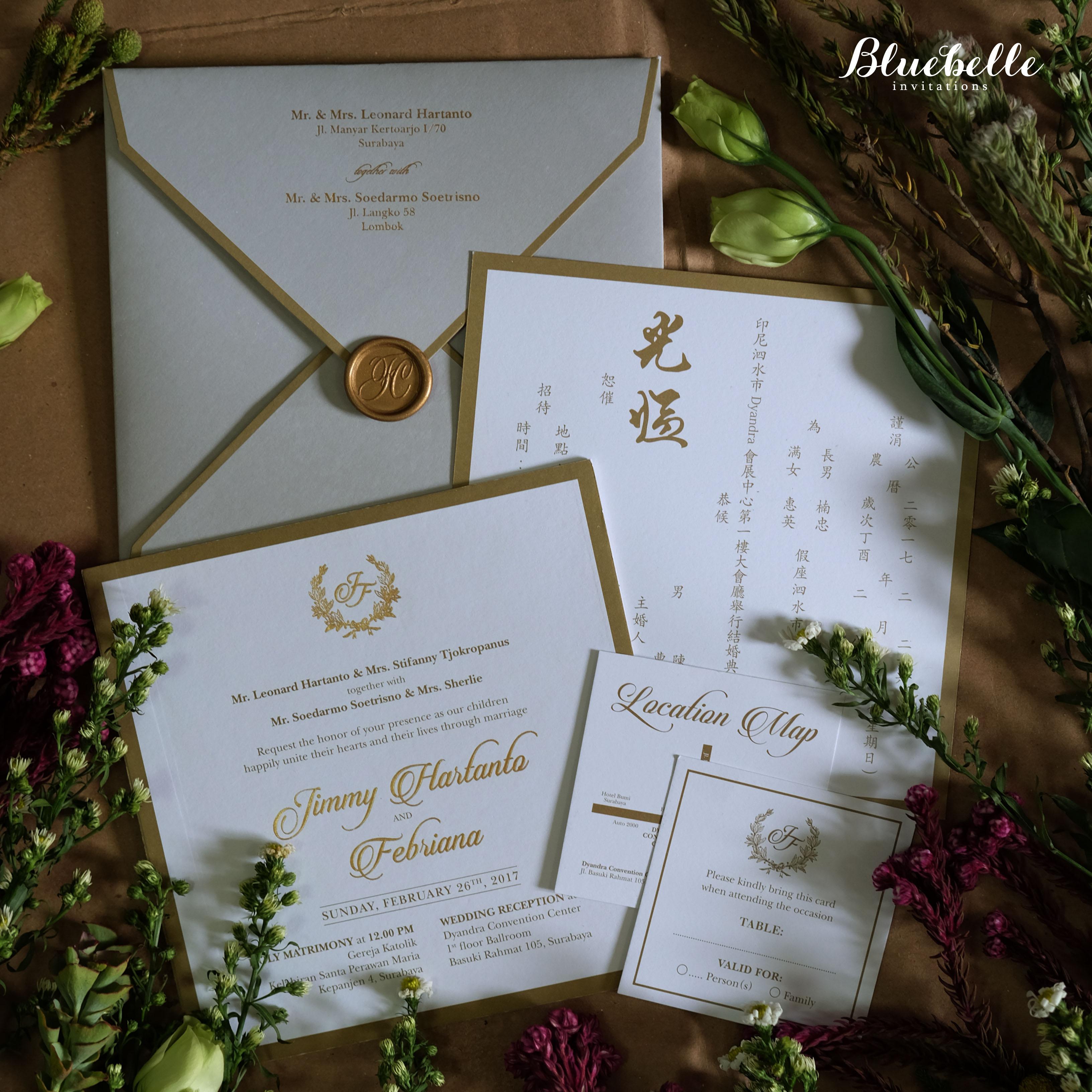 Jimmy febriana classic elegant grey wedding invitation by jimmy febriana classic elegant grey wedding invitation by bluebelle invitations bridestory stopboris Gallery