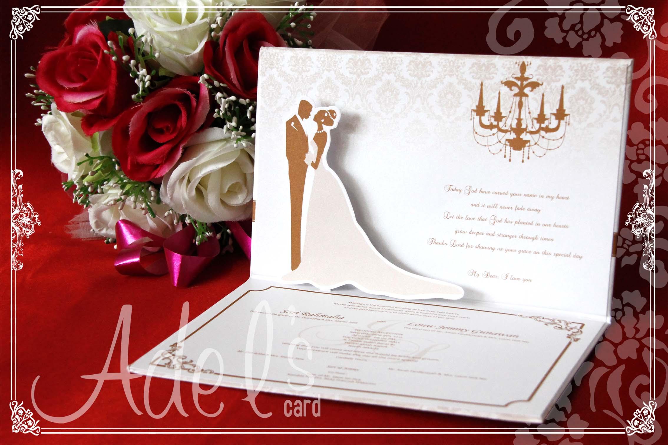 Adel\'s House of card | Wedding Invitations in Jakarta | Bridestory.com