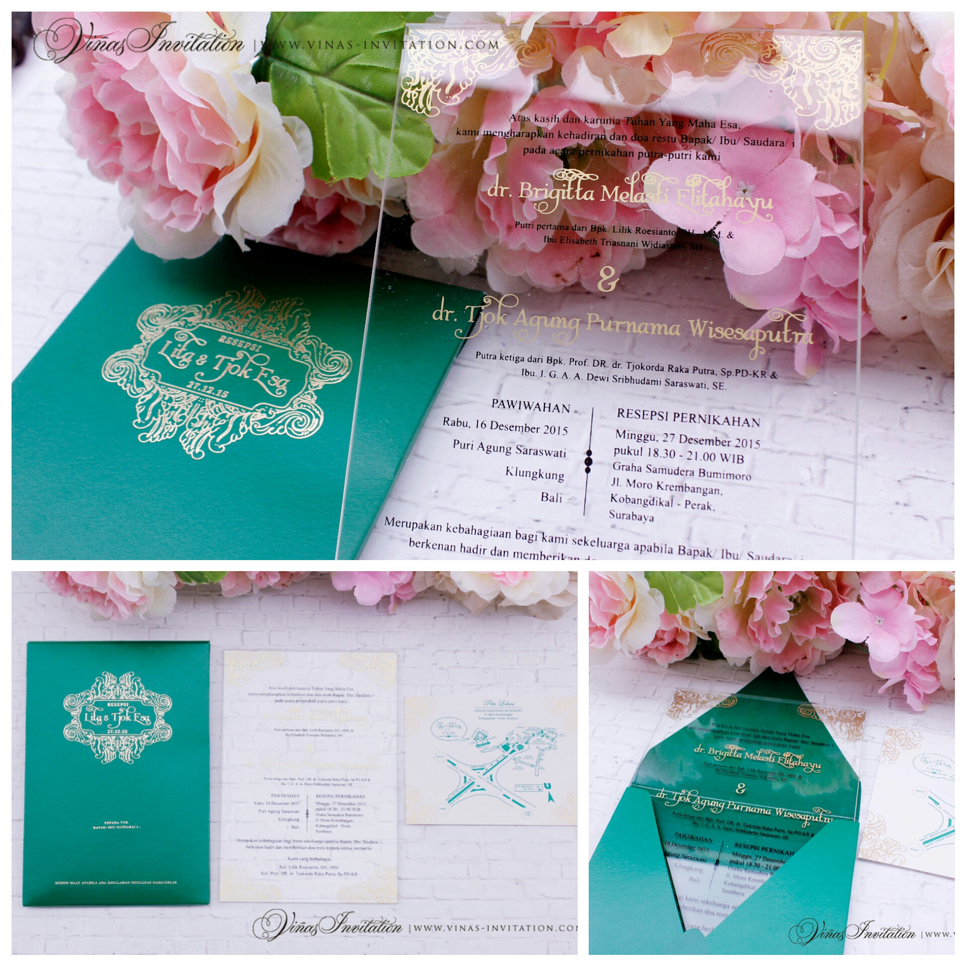 Acrylic invitation by vinas invitation bridestory stopboris Gallery