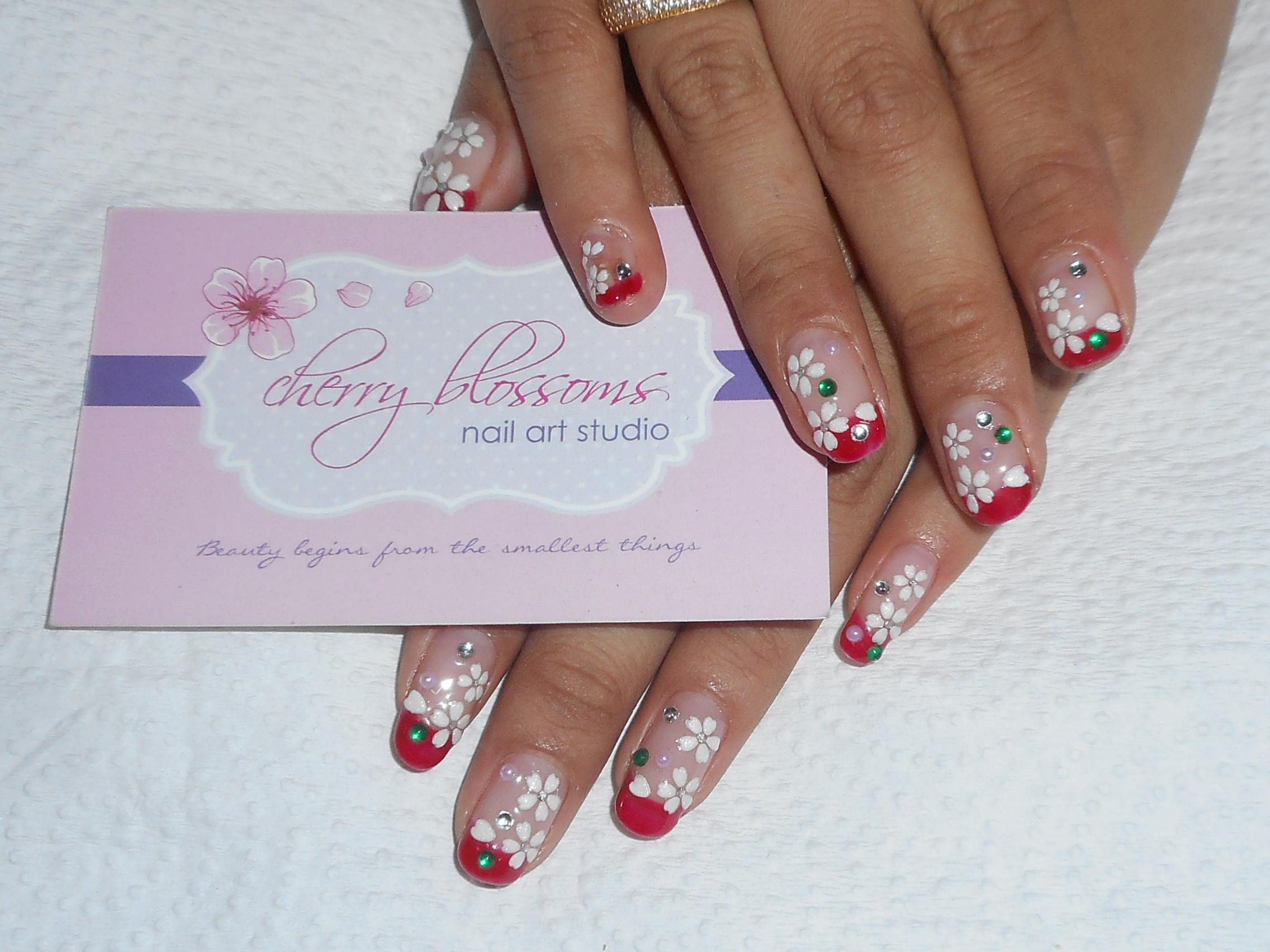 Sneak Peek By Cherry Blossoms Nail Art Bridestory Com
