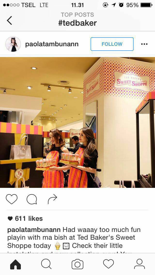2a3538faf288 Opening booth Ted Baker at Grand Indonesia by Tavoletta Conecake ...