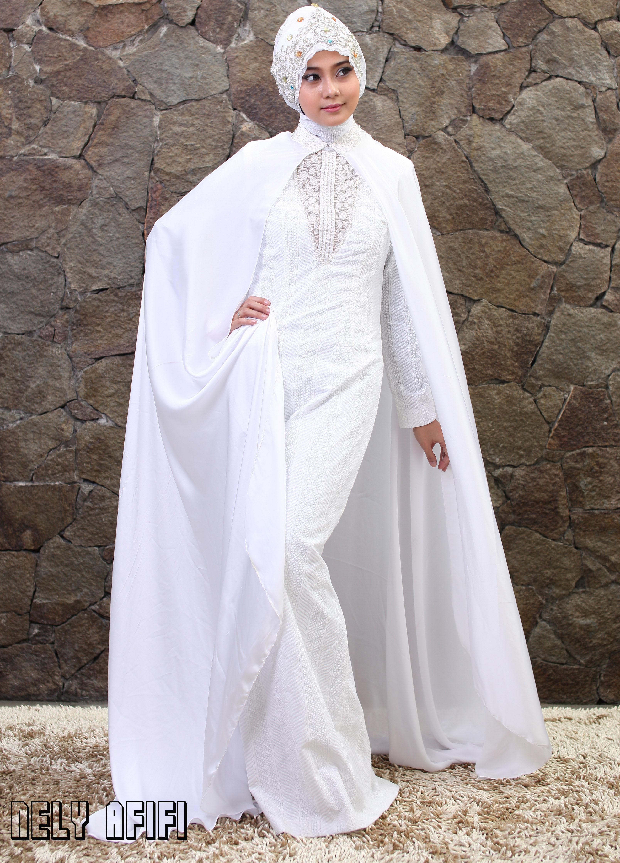 Wedding Dress Muslimah Cape by Wedding Dress Muslimah Designer
