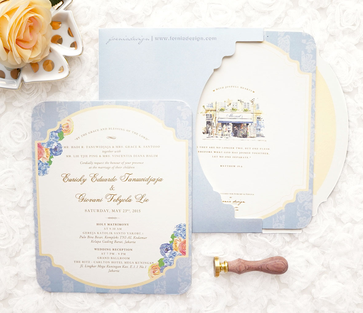 Euricky feby watercolor invitation by fornia design invitation euricky feby watercolor invitation by fornia design invitation bridestory stopboris Images