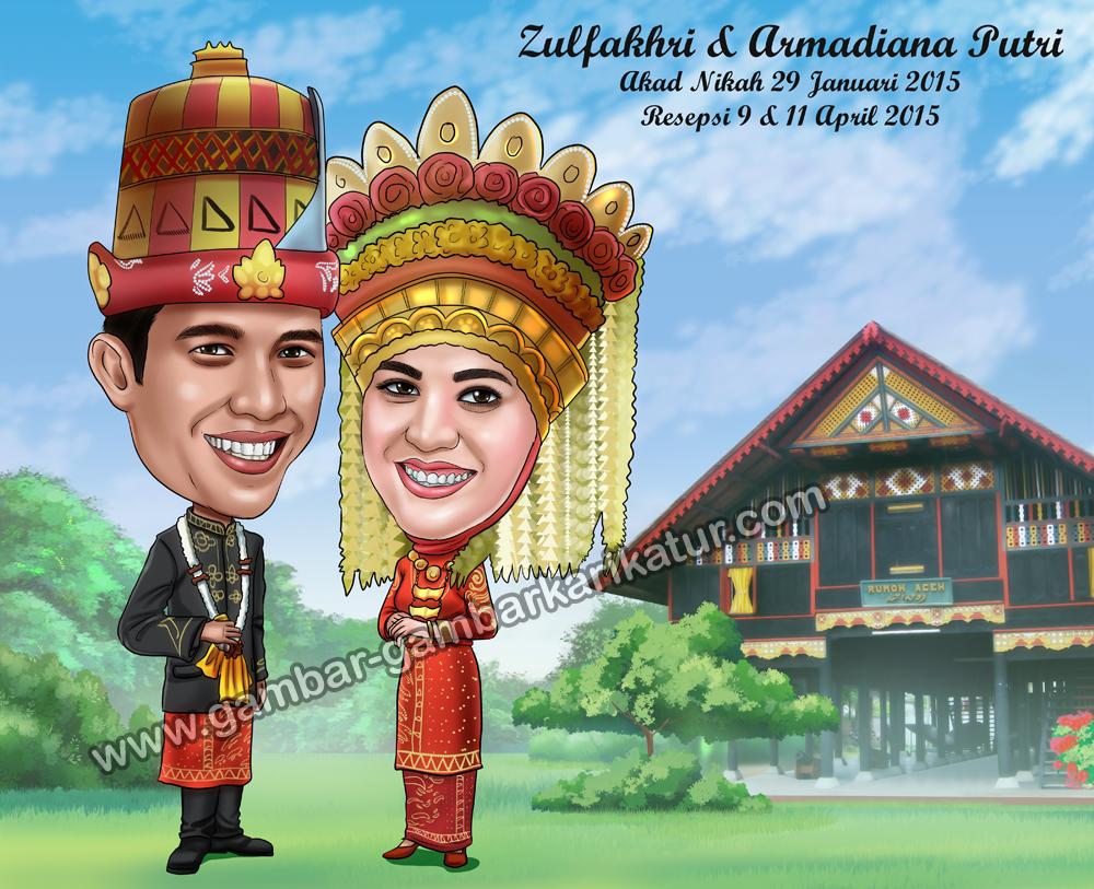 Karikatur Wedding   Wedding Others Unique Services in Medan ...