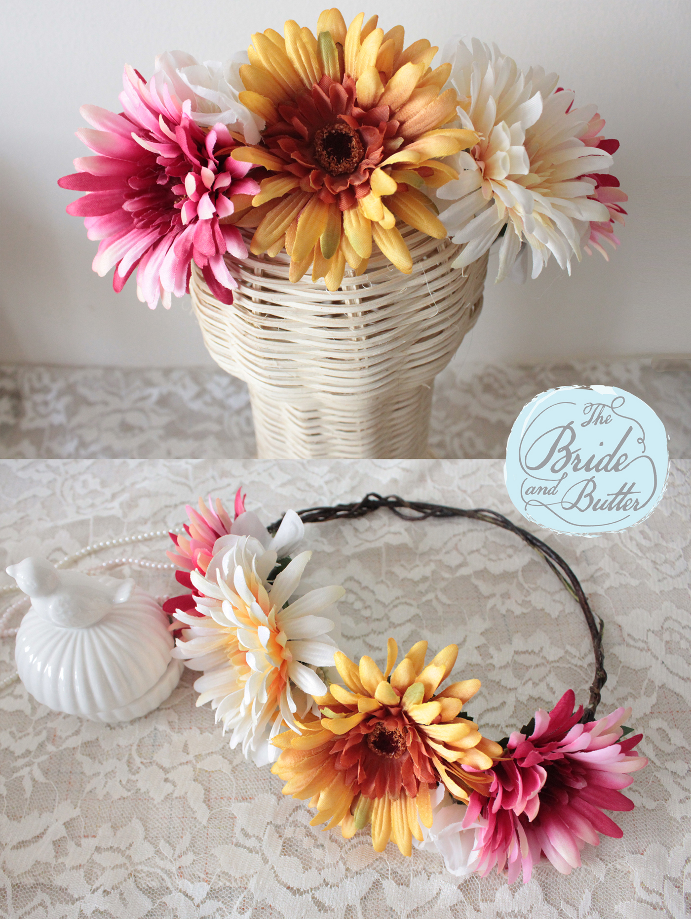 Custom Flower Crown By The Bride And Butter Bridestory
