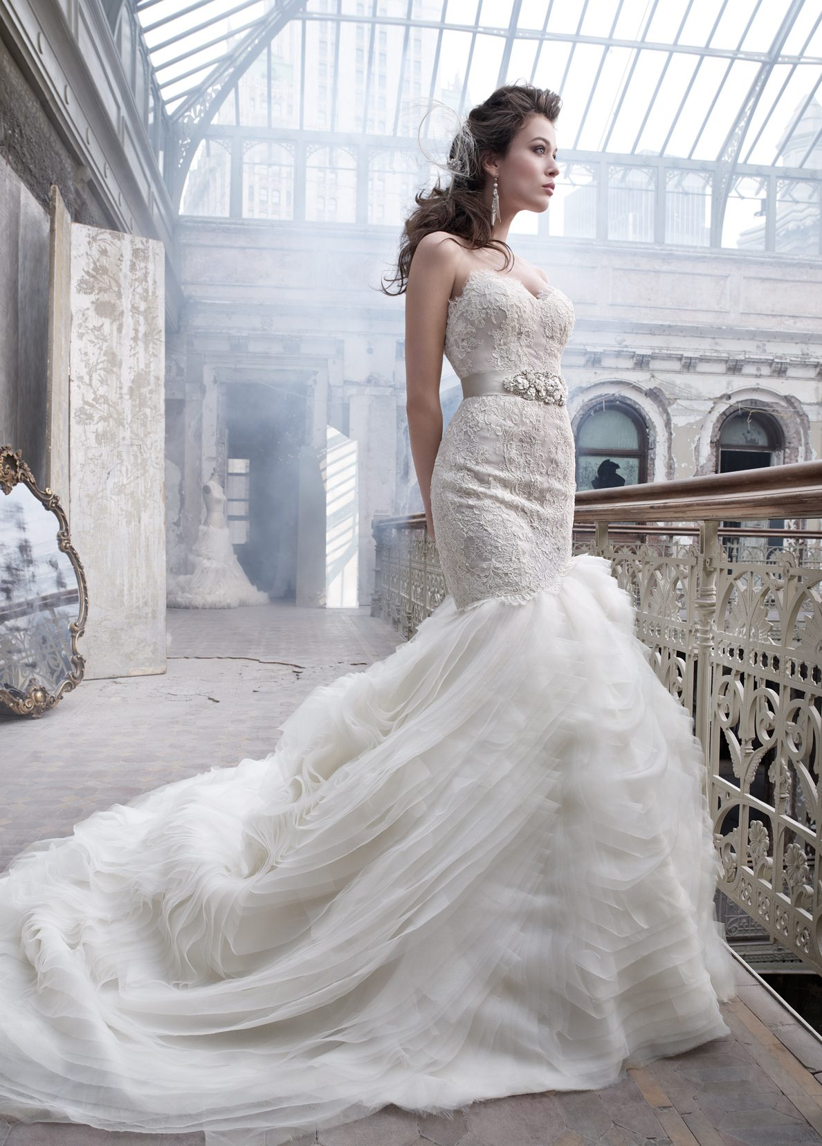 dina alonzi bridal wedding dress attire in