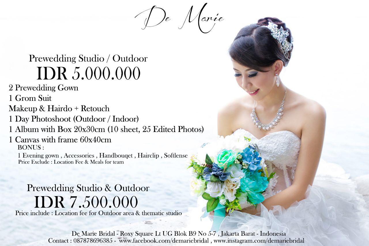 Pricelist prewedding 2015 by de marie bridal bridestory junglespirit Gallery