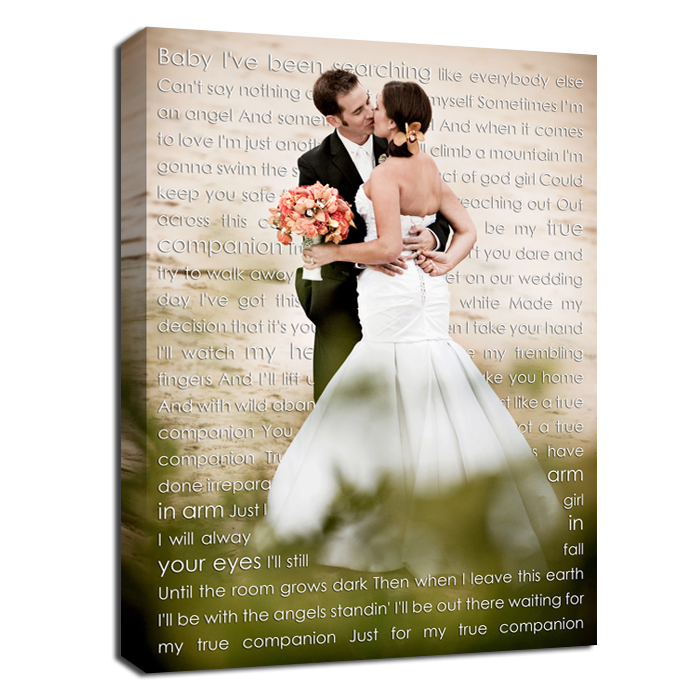 Wedding Photo First Dance Canvas Wedding Vow Art Gift For Husband By