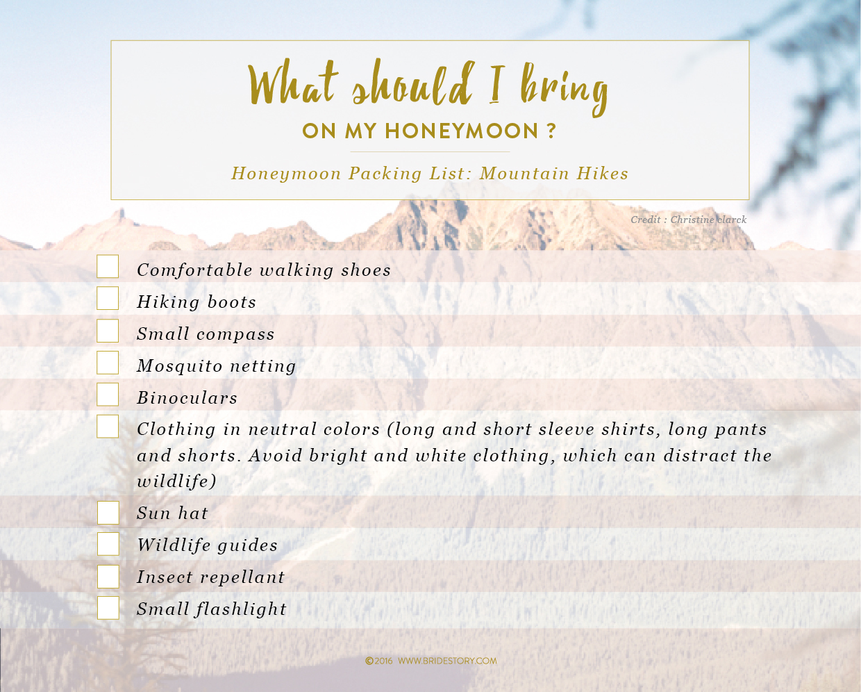 Honeymoon 101: Preparation and Packing Lists  Image 7