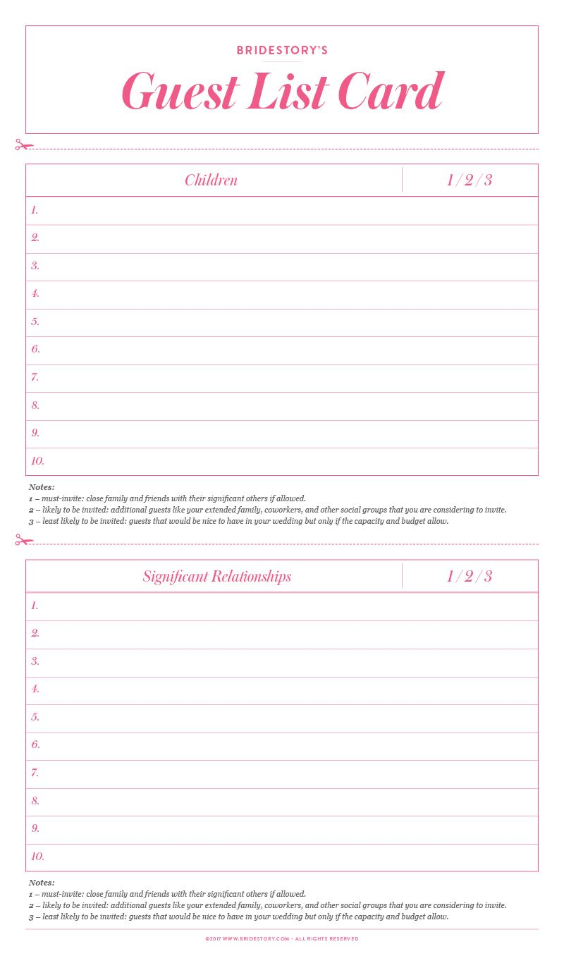 A Stress-Free Guide to Creating a Wedding Guest List Image 5