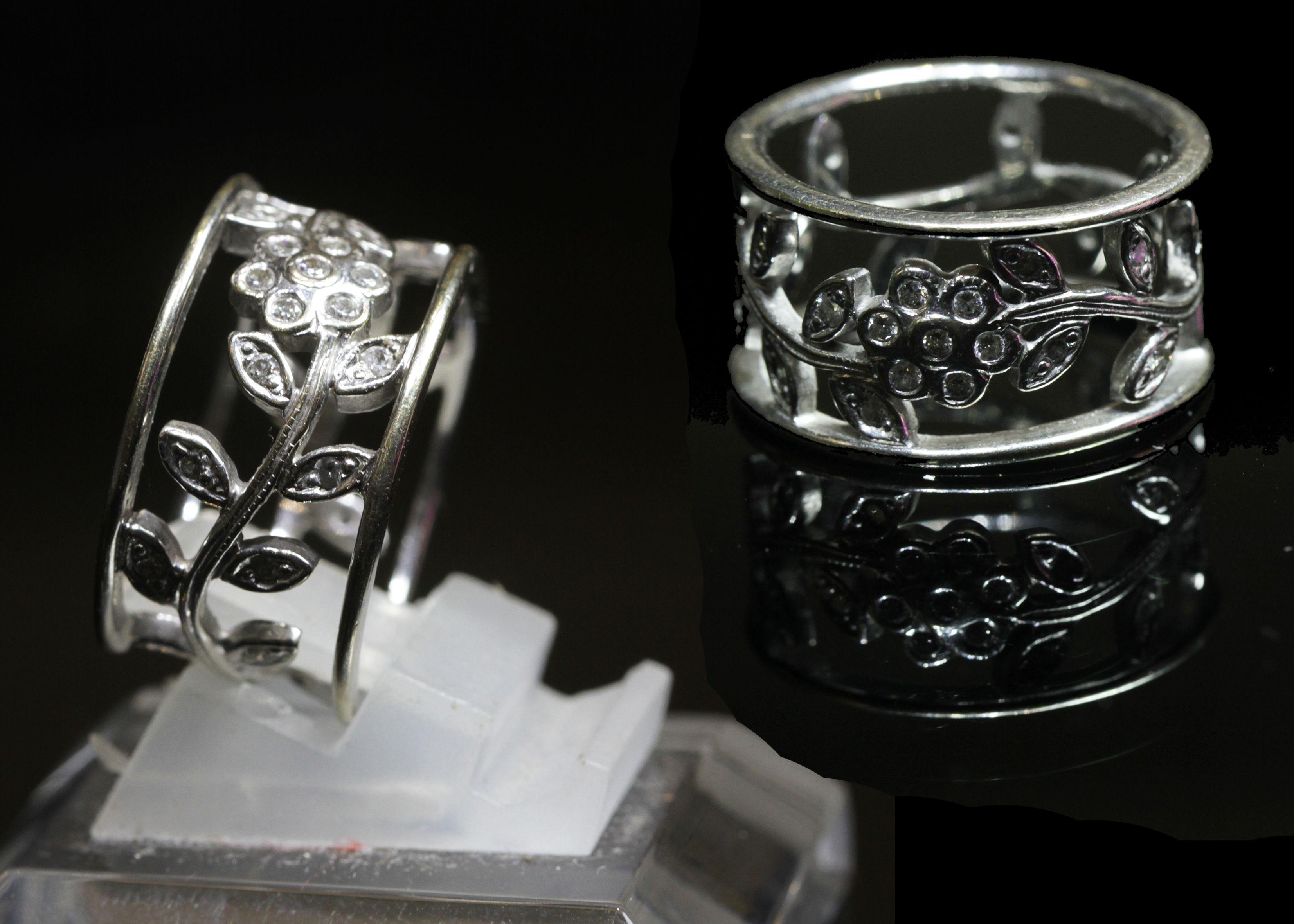 Diamond Woman Rings By Belle Jewelry Cincin Kawin Palladium 028