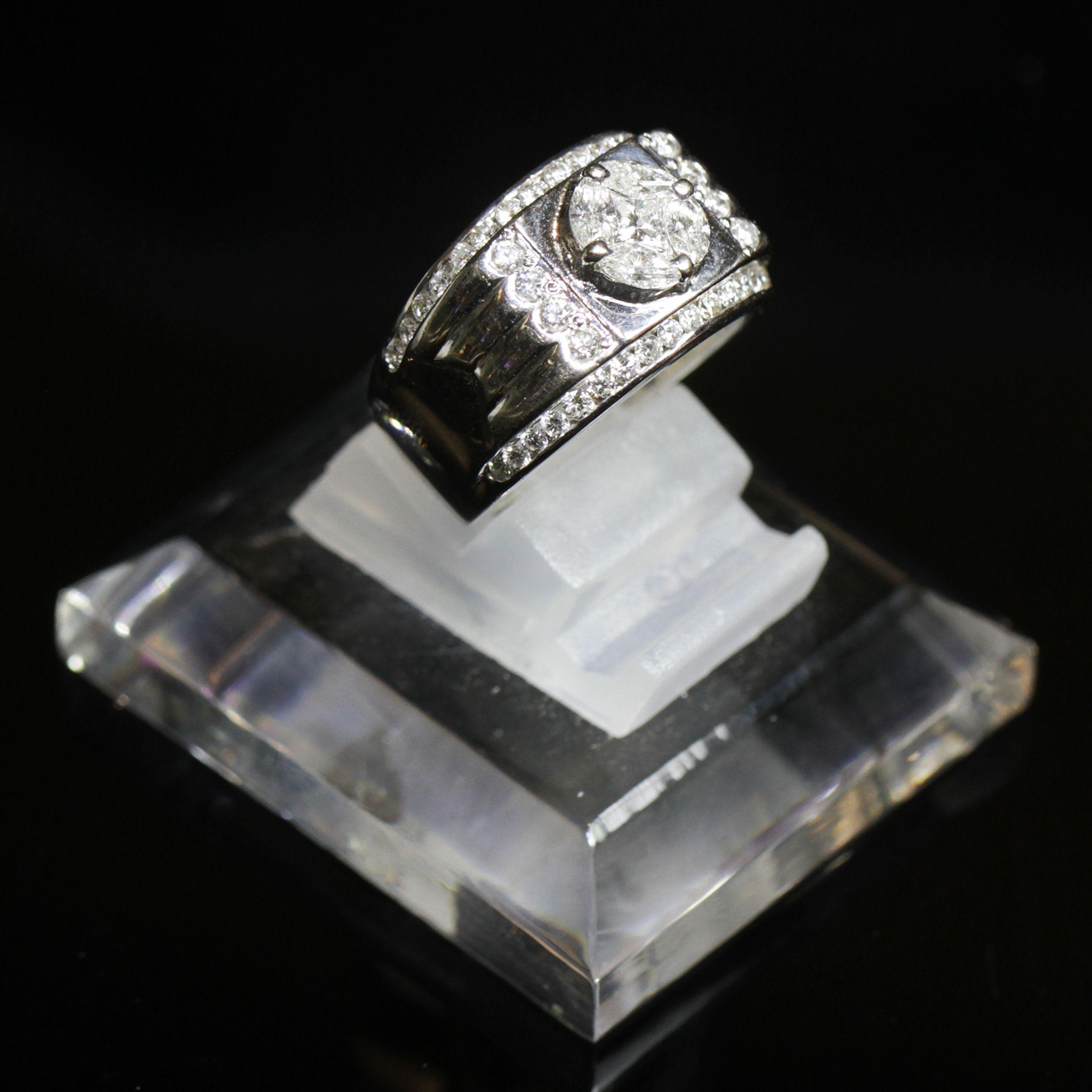Diamond And Stone Man Rings By Belle Jewelry Cincin Kawin Palladium 028