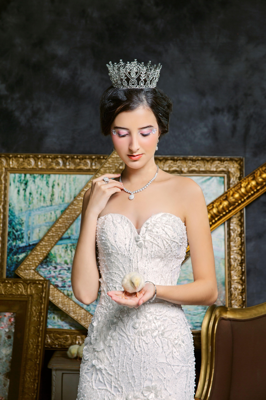 New Collection Fashion Jewellery Kyara Bridestory Tiaria Precious Pearl P85494 Pendant Liontin Emas Mutiara