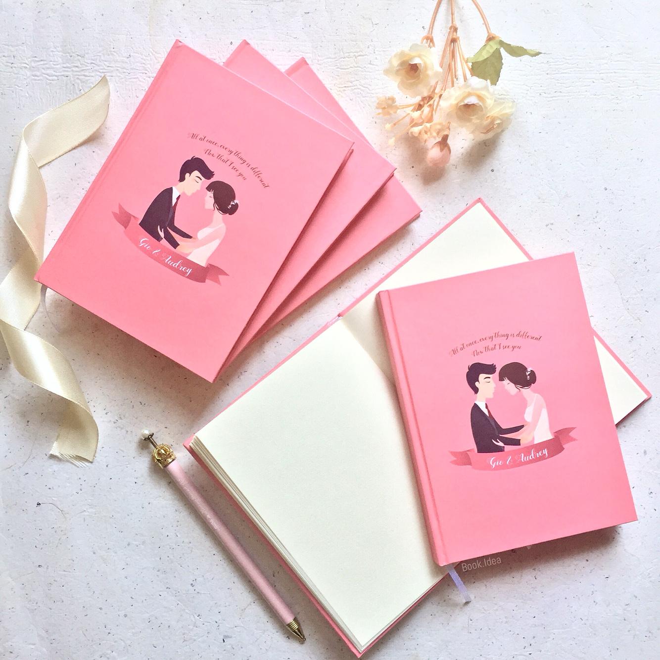 Notebook as wedding souvenir of Gio & Audrey by Book.Idea ...
