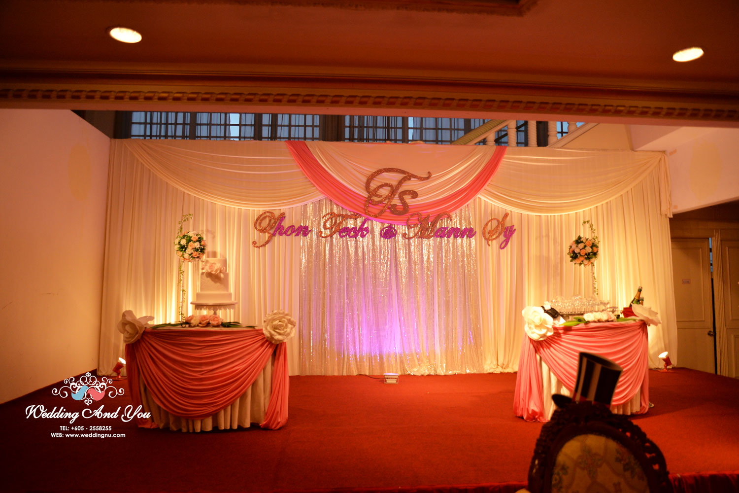 Stage Backdrop Design By Wedding And You Bridestory