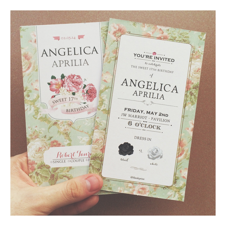 Sweet seventeen invitations by artier lab bridestory stopboris Choice Image