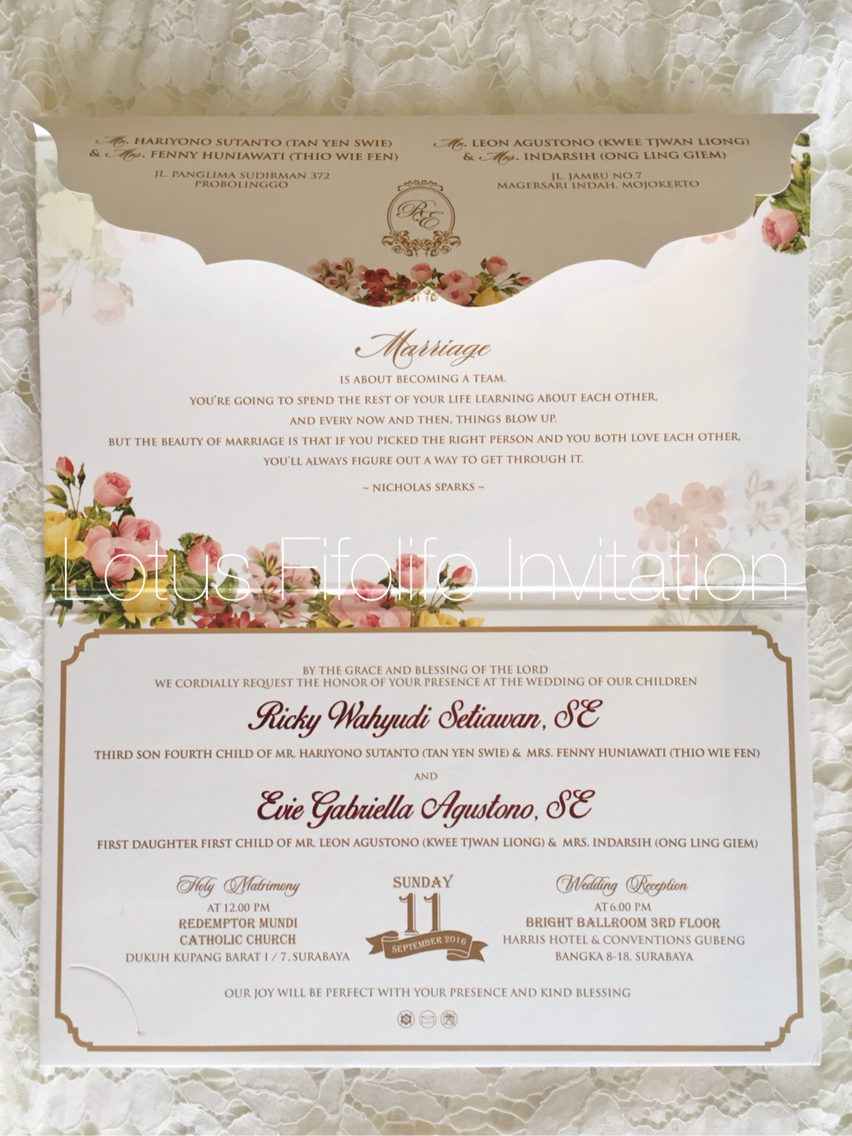 Wedding Invitation Design Surabaya Thank You for