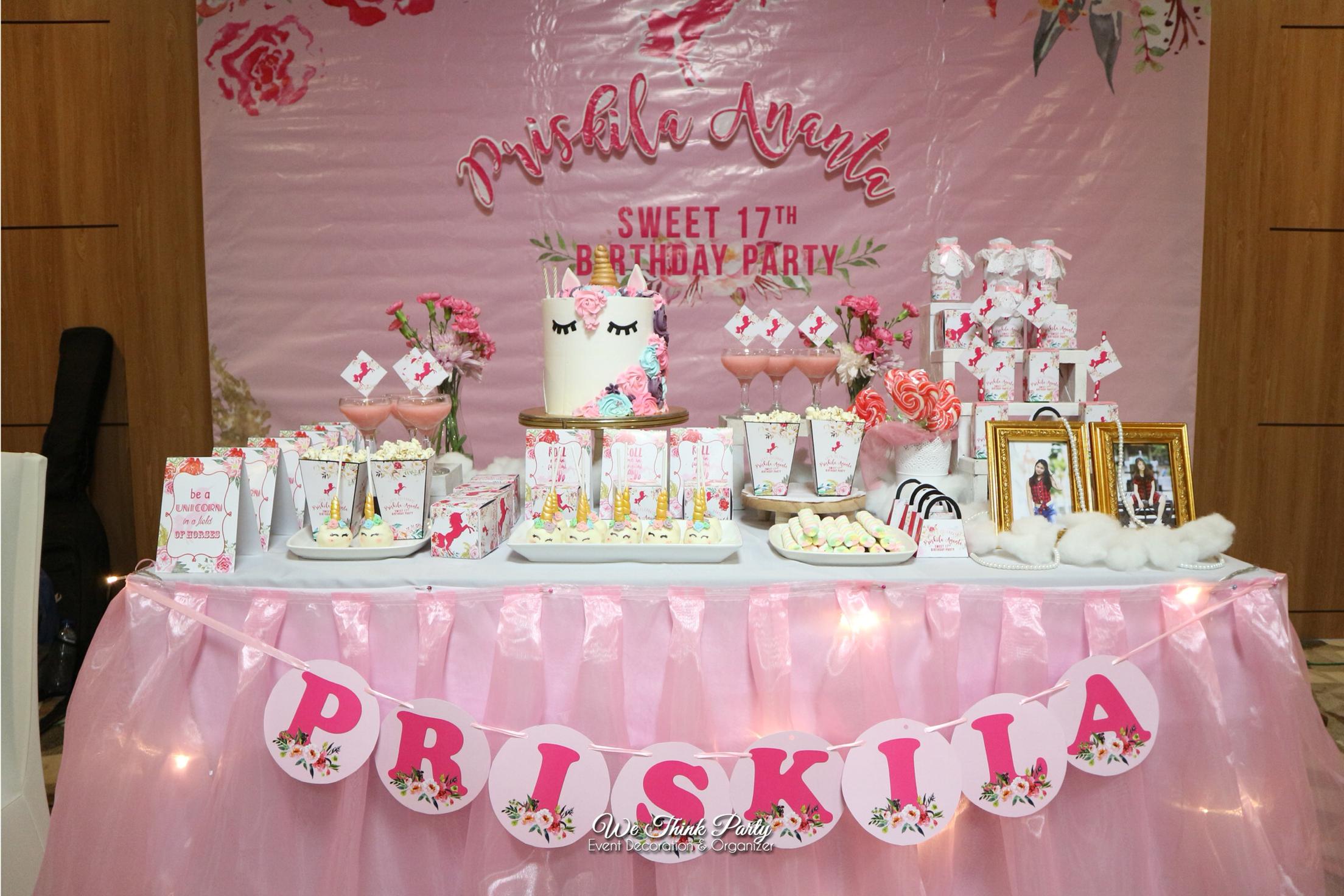 Unicorn Dessert Table by We Think Party | Bridestory.com