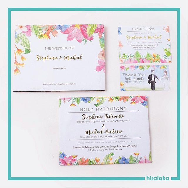 Hiraloka wedding invitations in jakarta bridestory stopboris Images