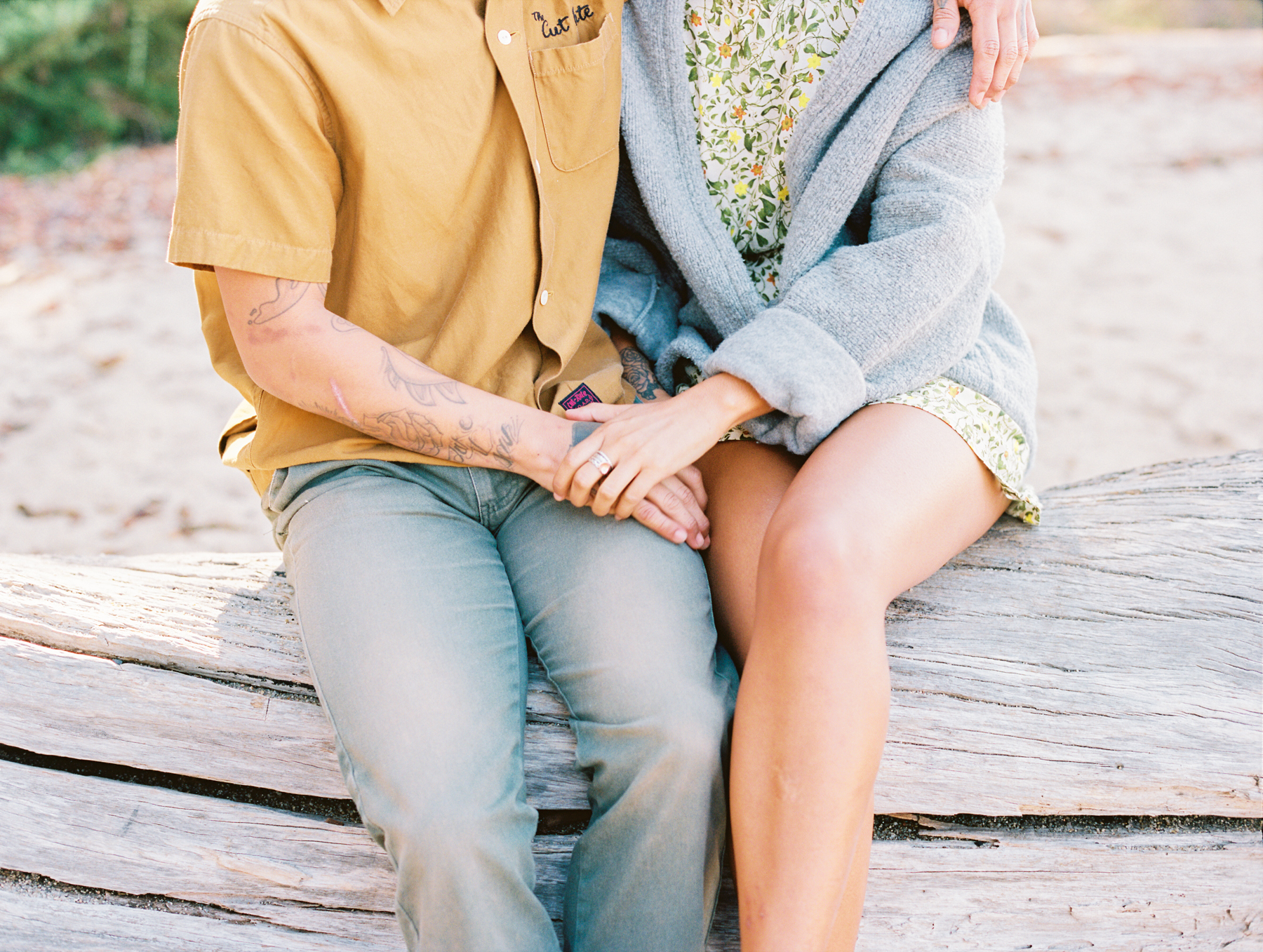 Effortless Engagement Session on a Californian Beach Image 1